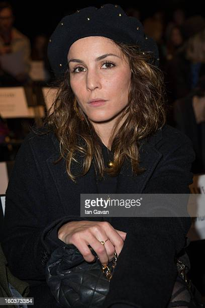 Noomi Rapace attends the AltewaiSaome show at MercedesBenz Stockholm Fashion Week Autumn/Winter 2013 at MercedesBenz Fashion Pavilion on January 30...