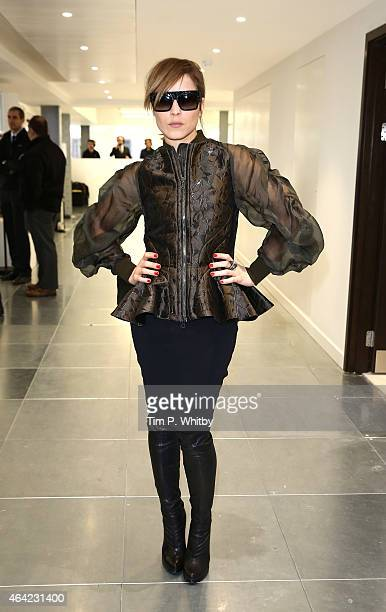 Noomi Rapace attends the Antonio Berardi show during London Fashion Week Fall/Winter 2015/16 at 10 Bloomsbury Way on February 23 2015 in London...