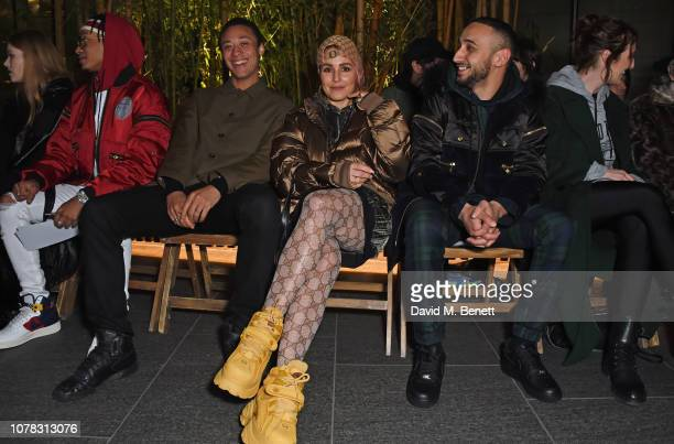 Noomi Rapace attends the Astrid Andersen show during London Fashion Week Men's January 2019 at the Broadgate Plaza on January 6 2019 in London England