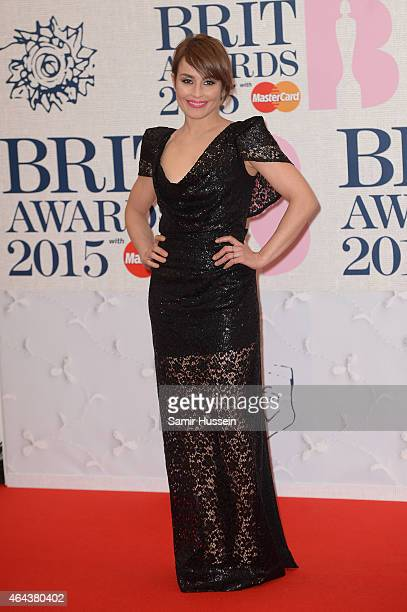 Noomi Rapace attends the BRIT Awards 2015 at The O2 Arena on February 25 2015 in London England