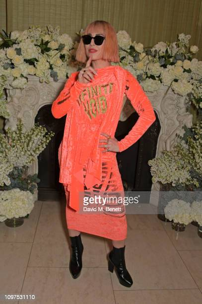 Noomi Rapace attends the British Vogue and Tiffany Co Celebrate Fashion and Film Party at Annabel's on February 10 2019 in London England