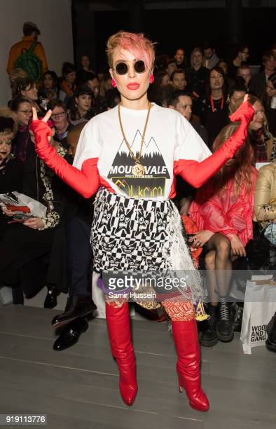 Noomi Rapace attends the Matty Bovan show during London Fashion Week February 2018 at on February 16 2018 in London England