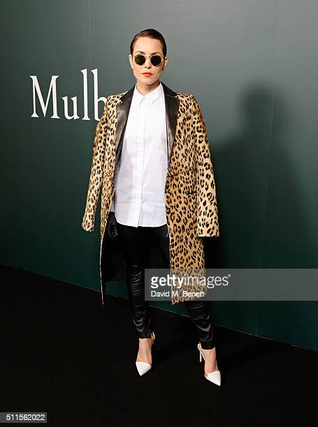 Noomi Rapace attends the Mulberry LFW Autumn/Winter 2016 Show at The Guildhall on February 21 2016 in London England