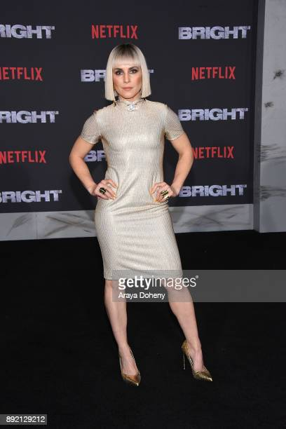 Noomi Rapace attends the premiere of Netflix's 'Bright' at Regency Village Theatre on December 13 2017 in Westwood California
