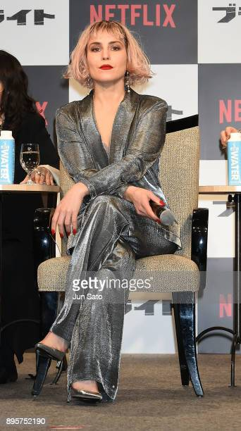 Noomi Rapace attends the press conference for 'Bright' at the RitzCarlton on December 20 2017 in Tokyo Japan