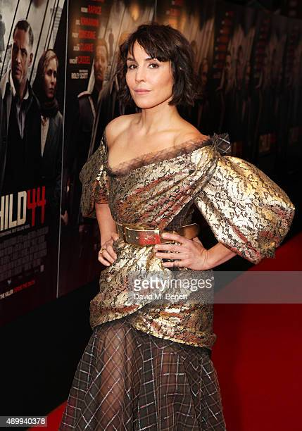 Noomi Rapace attends the UK Premiere of 'Child 44' at Vue West End on April 16 2015 in London England