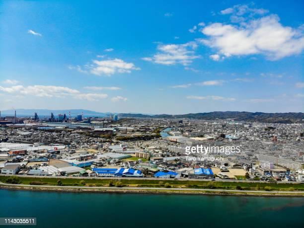 noon on the northern coast of the kino river - präfektur wakayama stock-fotos und bilder
