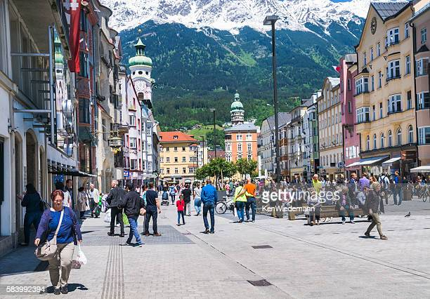 noon time in innsbruck - innsbruck stock pictures, royalty-free photos & images