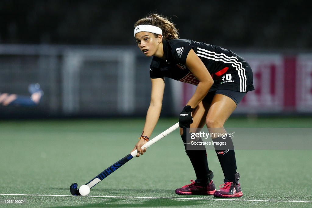 Noor de Baat of Amsterdam Dames 1 during the Hoofdklasse Women match between Amsterdam v Pinoke at the Wagener Stadium on September 14, 2018 in Amsterdam Netherlands