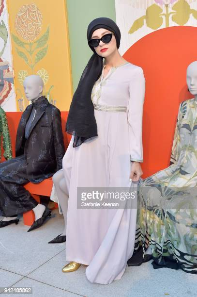 Noor Elkhaldi attends the HM celebration of 2018 Conscious Exclusive collection at John Lautner's Harvey House on April 5 2018 in Los Angeles...