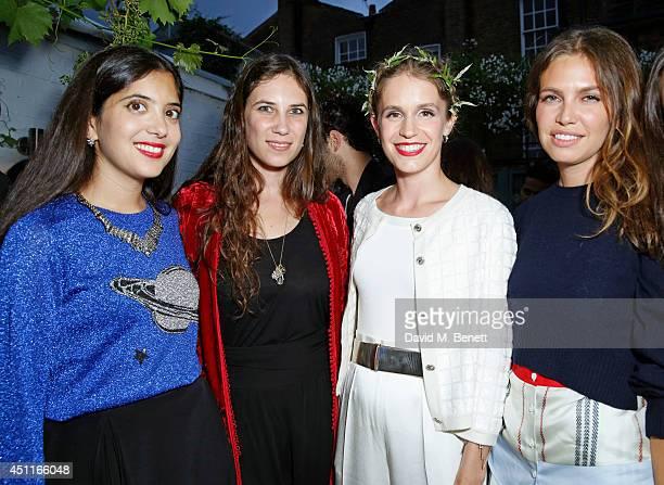 Noor Fares, Tatiana Santo Domingo, Eugenie Niarchos and Dasha Zhukova attend Mazi's Summer Party with guest of honor Eugenie Niarchos, Venyx World,...