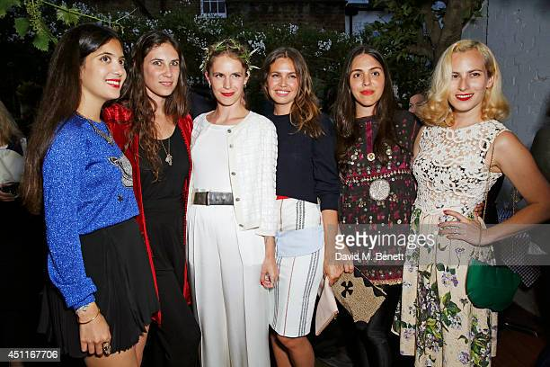 Noor Fares Tatiana Santo Domingo Eugenie Niarchos Dasha Zhukova Dana Alikhani and Charlotte Dellal attend Mazi's Summer Party with guest of honor...