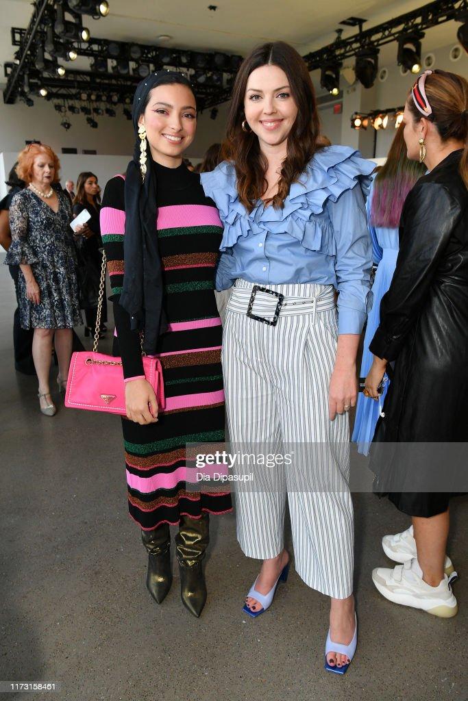 Noor Tagouri And Designer Tanya Taylor Pose At The Tanya Taylor News Photo Getty Images