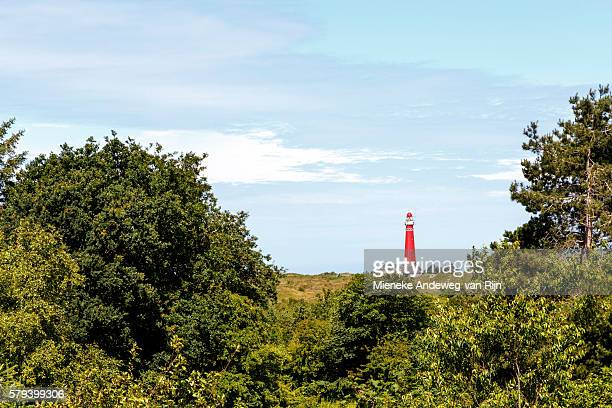 Noordertoren Lighthouse on Schiermonnikoog, one of the West Frisian islands in the Wadden Sea, Friesland, Netherlands.
