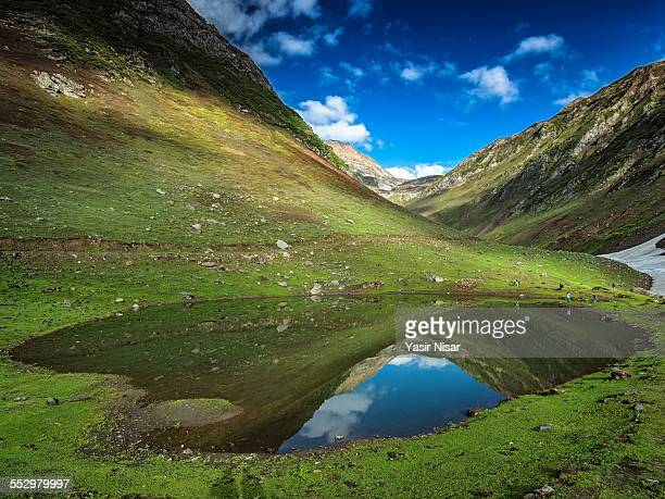 noori lake - kashmir valley stock photos and pictures