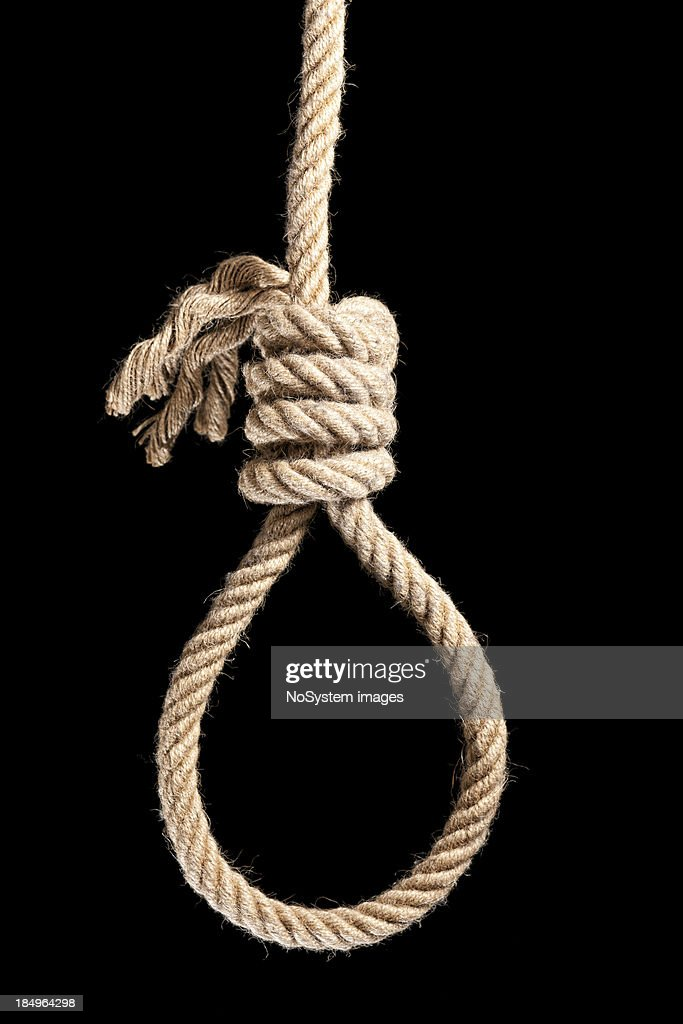 Noose isolated on black : Stock Photo