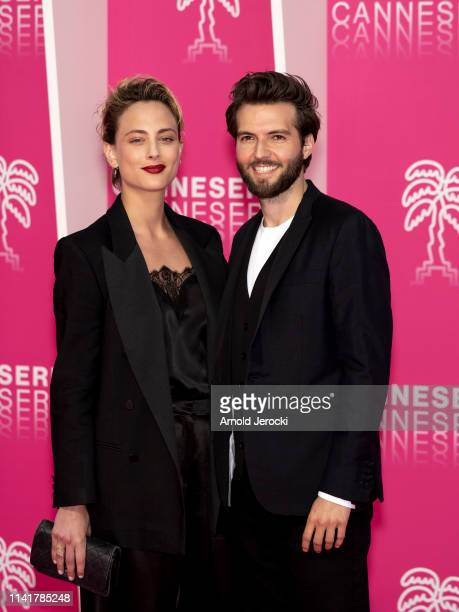 Nora Arnezeder and Guy Burnet attend the 2nd Canneseries International Series Festival Closing Ceremony on April 10 2019 in Cannes France