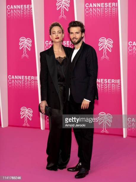 Nora Arnezeder and Guy Burnet attends the 2nd Canneseries International Series Festival Closing Ceremony on April 10 2019 in Cannes France