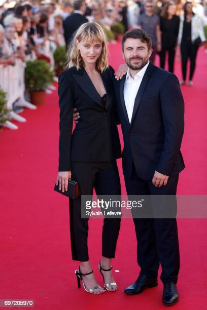 Nora Arnezeder and Stephane de Freitas attend closing ceremony red carpet of 31st Cabourg Film Festival on June 17 2017 in Cabourg France