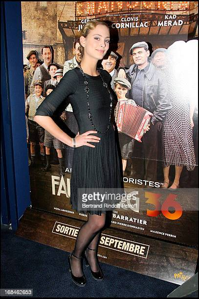 Nora Arnezeder at Premiere Of Film 'Faubourg 36' At Ugc Normandie In Benefit Of Claude Pompidou Foundation