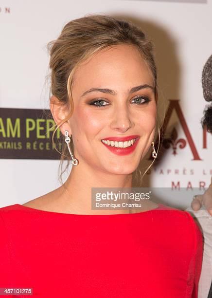 Nora Arnezeder attends the 'Angelique' Paris Premiere at Gaumont Capucines Cinema on December 16 2013 in Paris France
