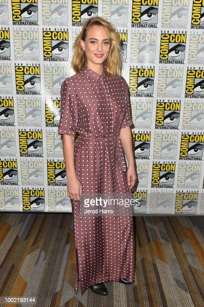 Nora Arnezeder attends YouTube's Origin Press Line during ComicCon International 2018 at Hilton Bayfront on July 19 2018 in San Diego California