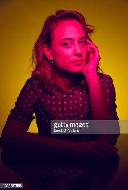 Nora Arnezeder from YouTube's 'Origin' poses for a portrait in the Getty Images Portrait Studio powered by Pizza Hut at San Diego 2018 Comic Con at...