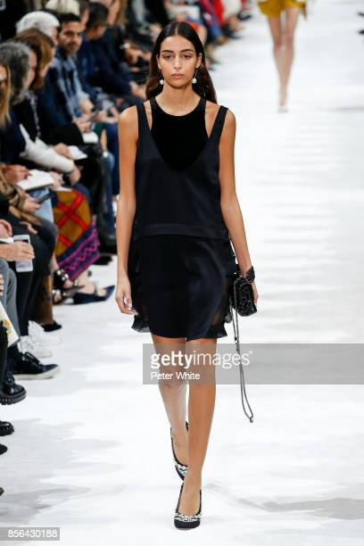 Nora Attal walks the runway during the Valentino show as part of the Paris Fashion Week Womenswear Spring/Summer 2018 on October 1 2017 in Paris...