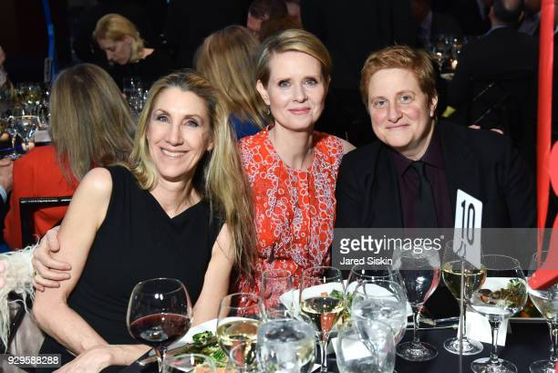 Nora Burns Cynthia Nixon and Christine Marinoni attend Bailey House Gala Auction 2018 at Pier 60 Chelsea Piers on March 8 2018 in New York City