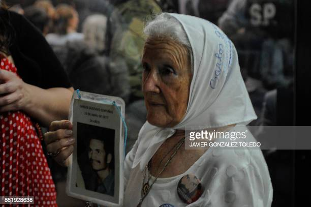 Nora Cortinas president of the Madres de Plaza de Mayo Linea Fundadora human Rights organization is pictured during the sentencing hearing for crimes...