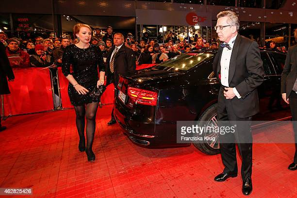 Nora de Maiziere and her father Thomas de Maiziere attend the 'Nobody Wants the Night' premiere during the 65th Berlinale International Film Festival...
