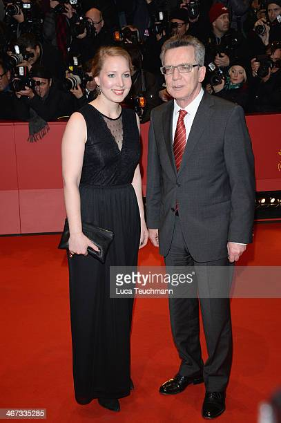 Nora de Maiziere and Thomas de Maiziere attend 'The Grand Budapest Hotel' Premiere during the 64th Berlinale International Film Festival at Berlinale...