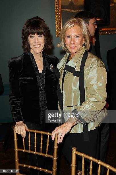Nora Ephron and Amanda Urban attend The Center for Fiction's 2010 benefit and awards dinner at The New York Racquet and Tennis Club on December 6,...