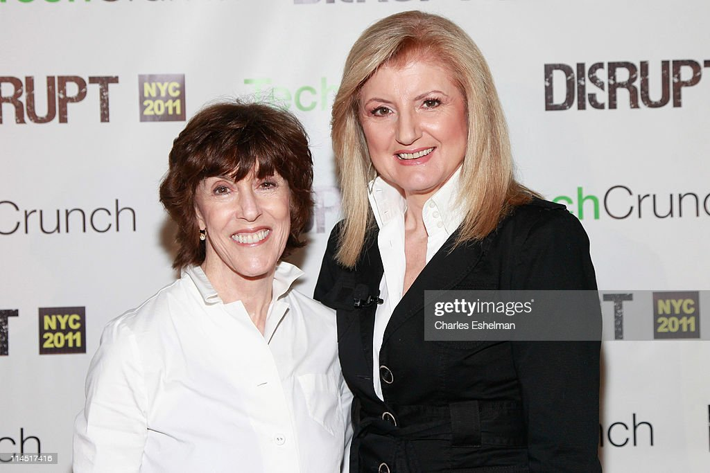 Nora Ephron and Arianna Huffington attend TechCrunch Disrupt New York May 2011 at Pier 94 on May 23, 2011 in New York City.
