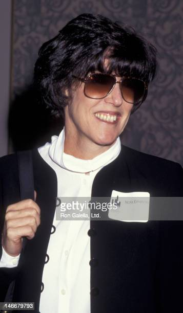 Nora Ephron attends Women in Film Holiday Luncheon Honoring Angela Bassett on December 14, 1995 at the New York Hilton Hotel in New York City.