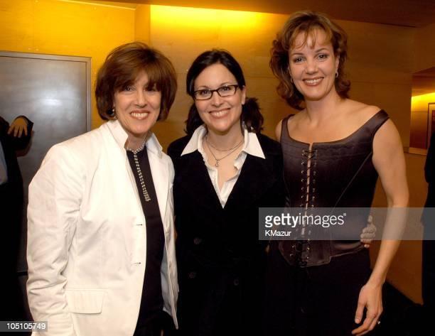Nora Ephron, Director Karen Mondrieff, and Margaret Colin