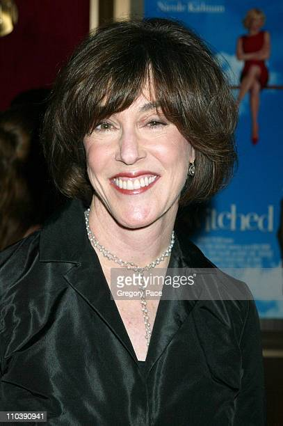 """Nora Ephron during """"Bewitched"""" New York City Premiere - Inside Arrivals at Ziegfeld Theater in New York City, New York, United States."""