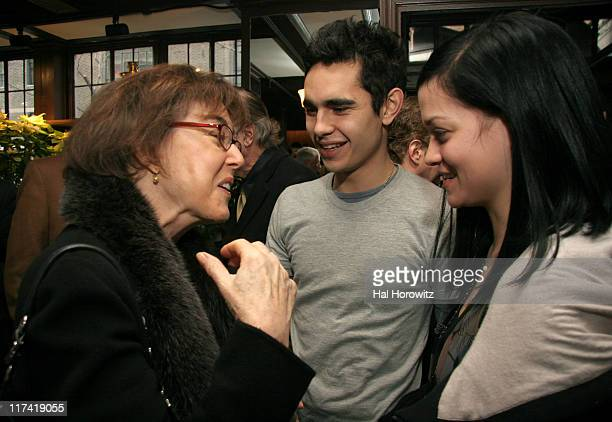Nora Ephron Max Minghella and Leigh Lezark during A Lunch in Celebration of Breaking and Entering at CAFE DES ARTISTES in New York City New York...