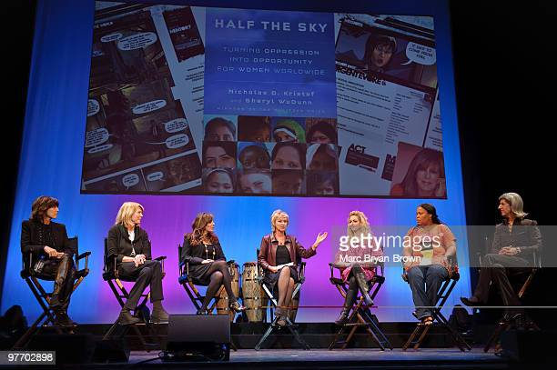 Nora Ephron, Susan Lyne, Victoria Jackson, Tina Brown, Jane McGonigal, Leymah Gbowee and Lauren Zalaznik attend day 3 of the ''Women In The World:...