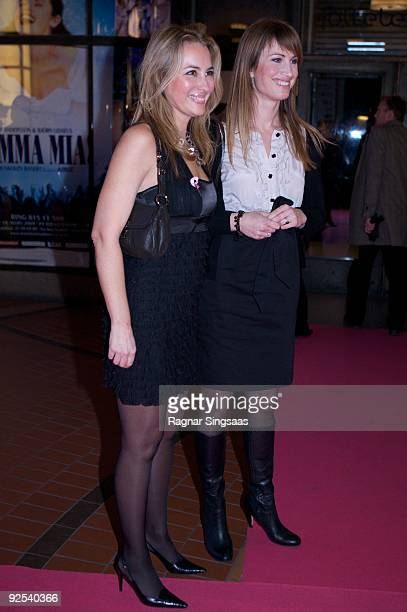 Nora Farah and Eva Sannum attend a Charity Gala on October 29 2009 in Oslo Norway