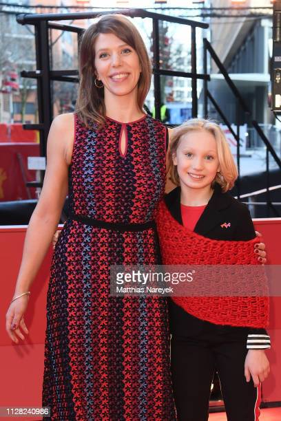 Nora Fingscheidt and Helena Zengel attend the System Crasher premiere during the 69th Berlinale International Film Festival Berlin at Berlinale...