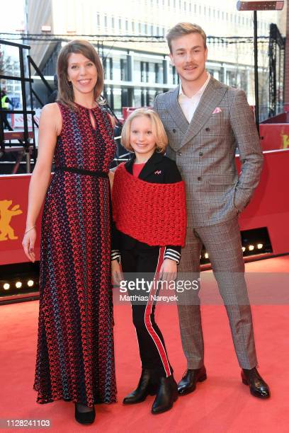 Nora Fingscheidt Helena Zengel and Albrecht Schuch attend the System Crasher premiere during the 69th Berlinale International Film Festival Berlin at...