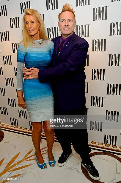 Nora Forster and John Lydon attend the BMI Awards at The Dorchester on October 15 2013 in London England