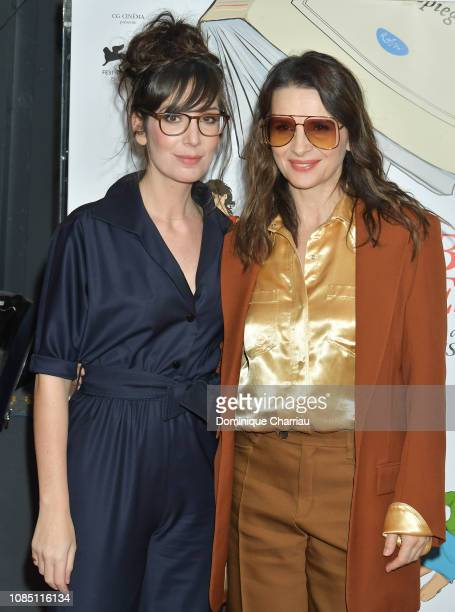 Nora Hamzawi and Juliette Binoche attend Doubles Vies Paris Premiere at UGC Cine Cite des Halles on December 20 2018 in Paris France