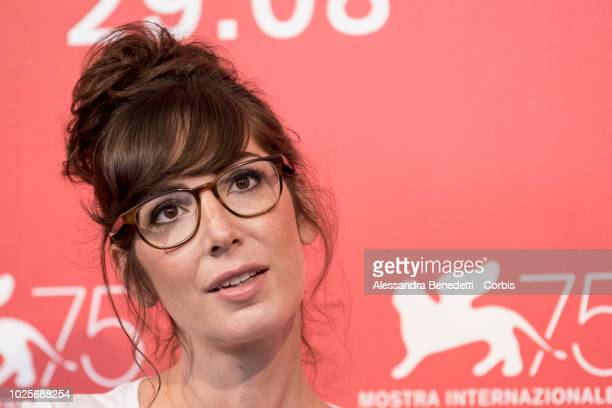 Nora Hamzawi attends 'Doubles Vies ' photocall during the 75th Venice Film Festival at Sala Casino on August 31 2018 in Venice Italy