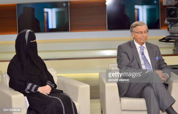 Nora Illi women's representative of the Islamic Central Council of Switzerland and CDU politician for Home Affairs Wolfgang Bosbach during the ARD...