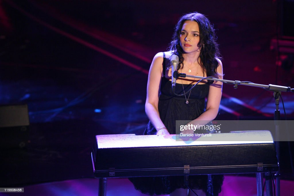 Nora Jones during 57th San Remo Music Festival - Inaugural Evening at Teatro Ariston in Sanremo, Italy.