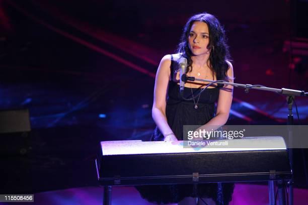 Nora Jones during 57th San Remo Music Festival - Inaugural Evening at Teatro Ariston in Sanremo, Italy.