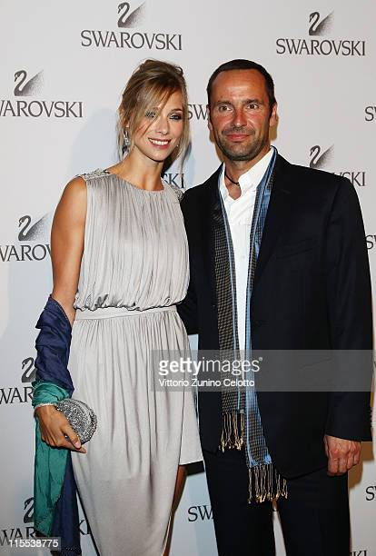Nora Mogalle and Swarovski CEO Robert Buchbauer attend the Swarovski Fashionation at Palazzo Reale on June 7 2011 in Milan Italy