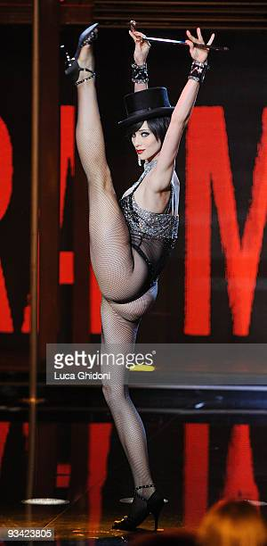Nora Mogalle appears on the Italian television show Chiambretti Night on November 25 2009 in Milan Italy